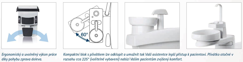 Príslušenství stomatologické soupravy Kavo Estetica E30