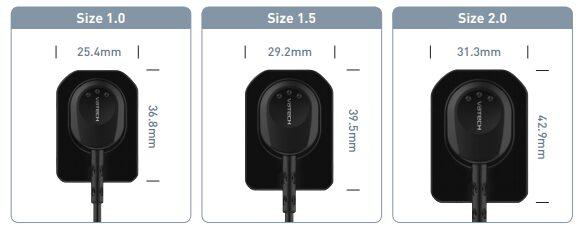 Intraorální senzor Vatech EzSenzor HD velikosti