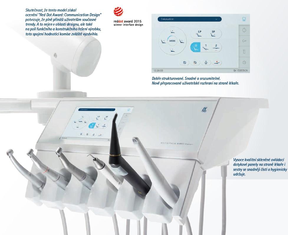 Stomatologická souprava KaVo Estetica E70/E80 Vision nástrojový stolek