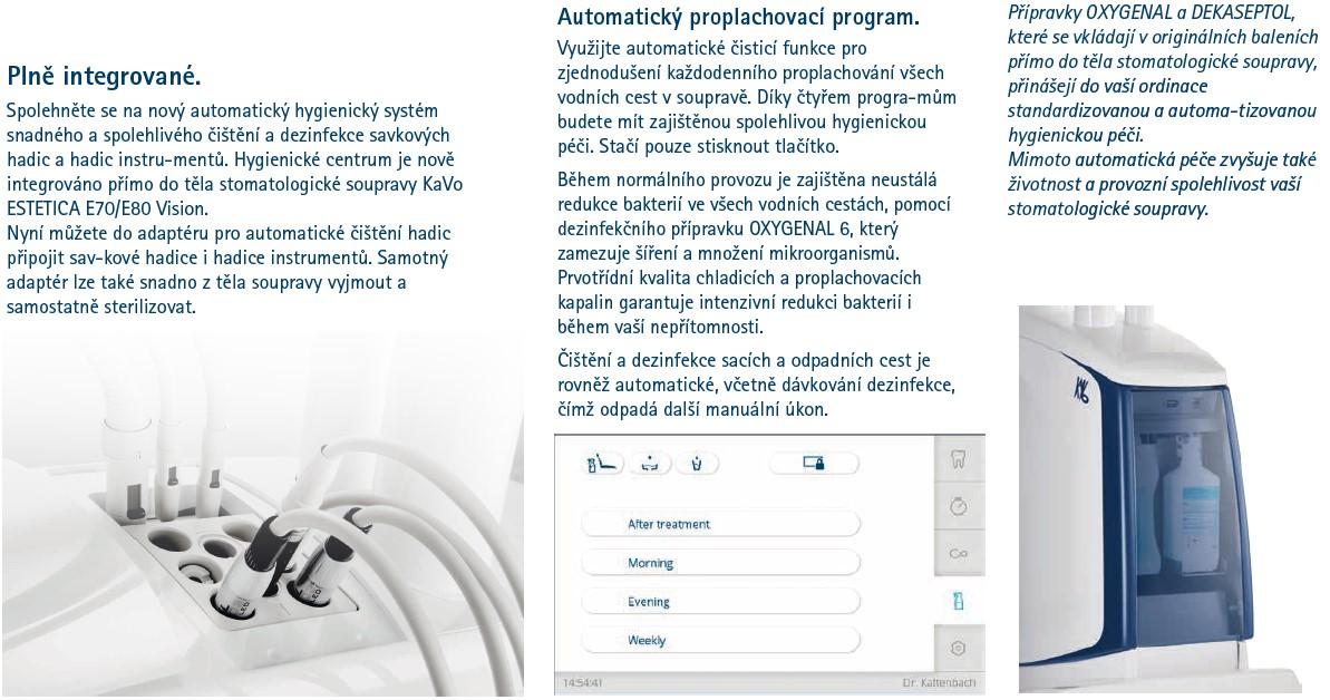 Automatická dezinfekce nástrojů zubní soupravy Kavo E70/80